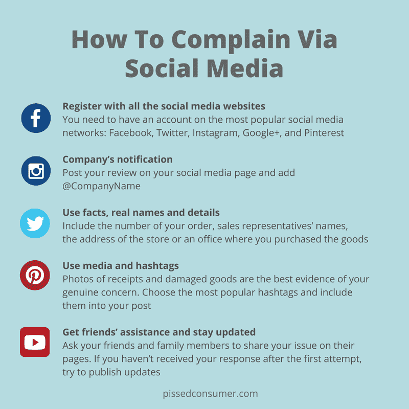 How to complain via social media effectively