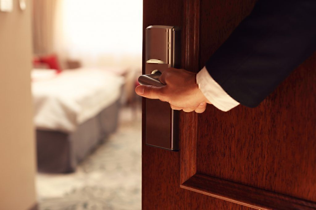 staying safe in a hotel room