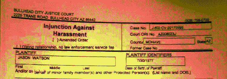 Court order removal request