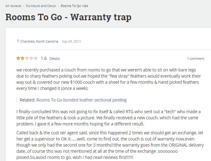 warranty scam