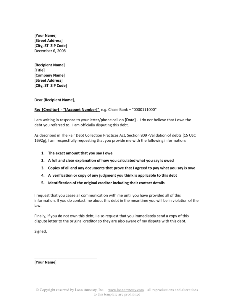 debt validation letter how to handle abusive collection agencies pissed 21325 | sample debt validation letter template best business template regarding debt validation letter template 791x1024