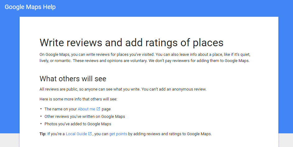 How to write reviews on Google My Business