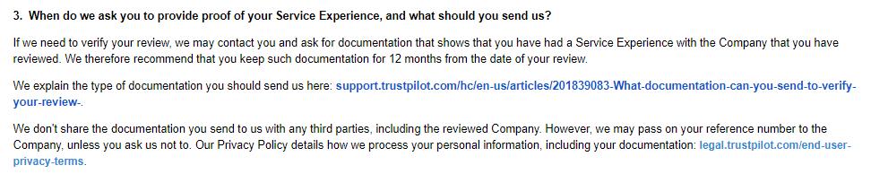 Trustpilot's User Guidelines