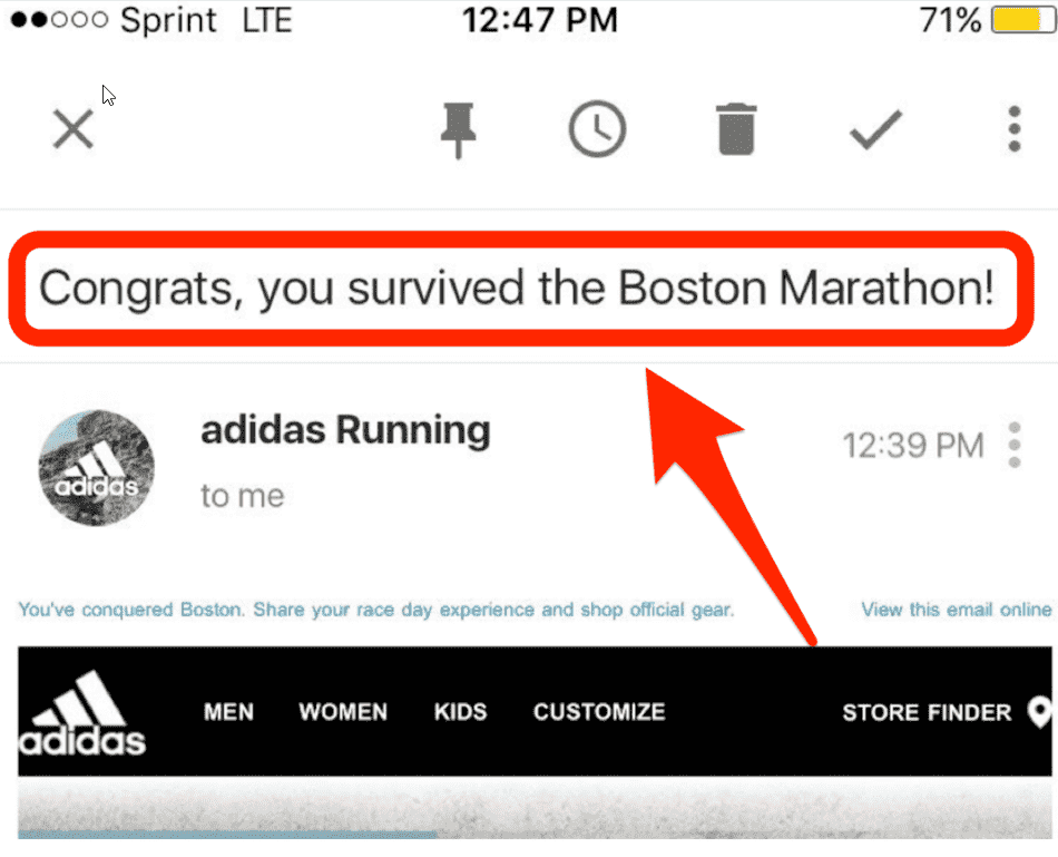 Adidas Boston Marathon email