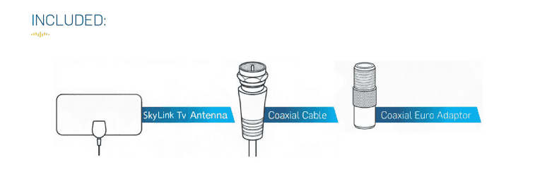 How many components are there in a Skylink Tv antenna?