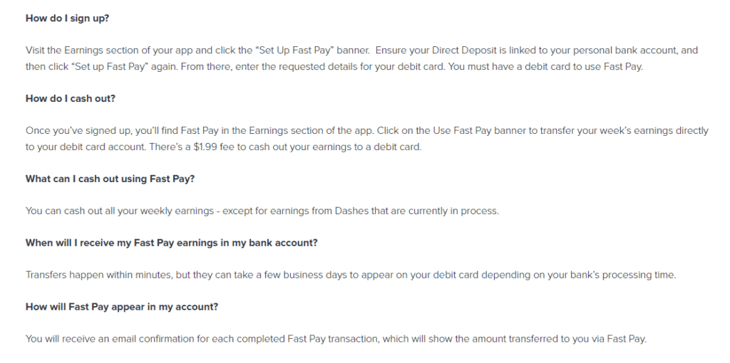 Dashers Payment Help