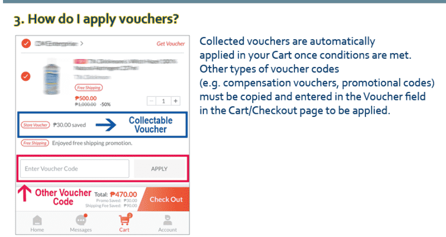 How to apply Lazada voucher