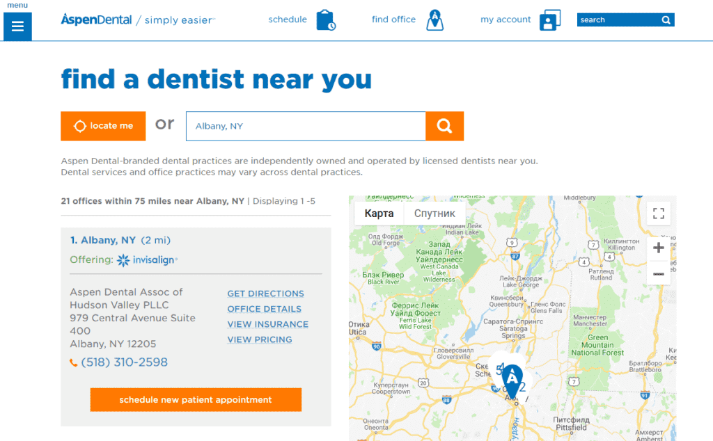 Aspen Dental office near me