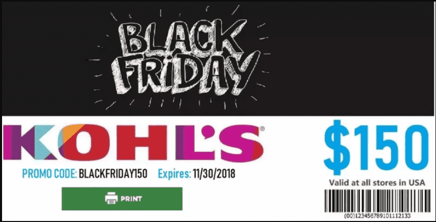 Black Friday fake coupon