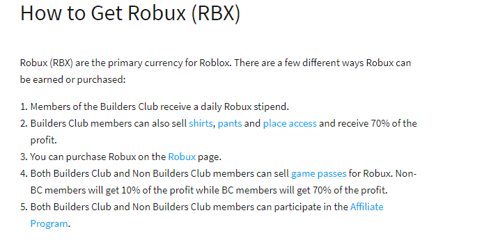 how can I earn robux