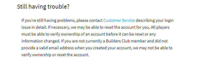 how to contact Roblox customer service