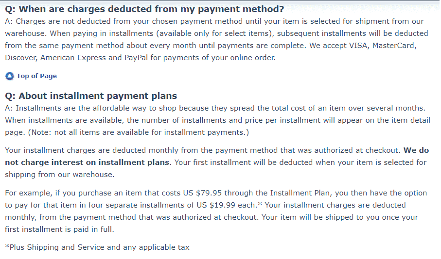 How to check when my payments from BradfordExchange.com are due