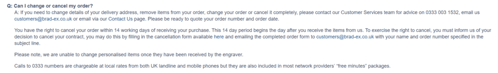 How to cancel my Bradford Exchange order