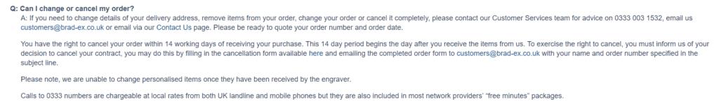 How to cancel my Bradford Exchange order