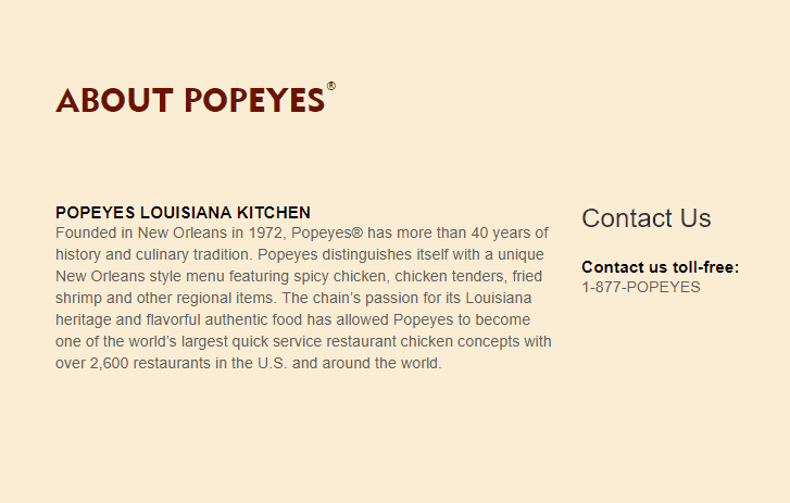 What is Popeyes?