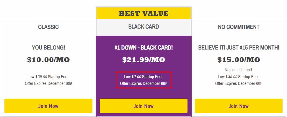 Planet Fitness membership fees