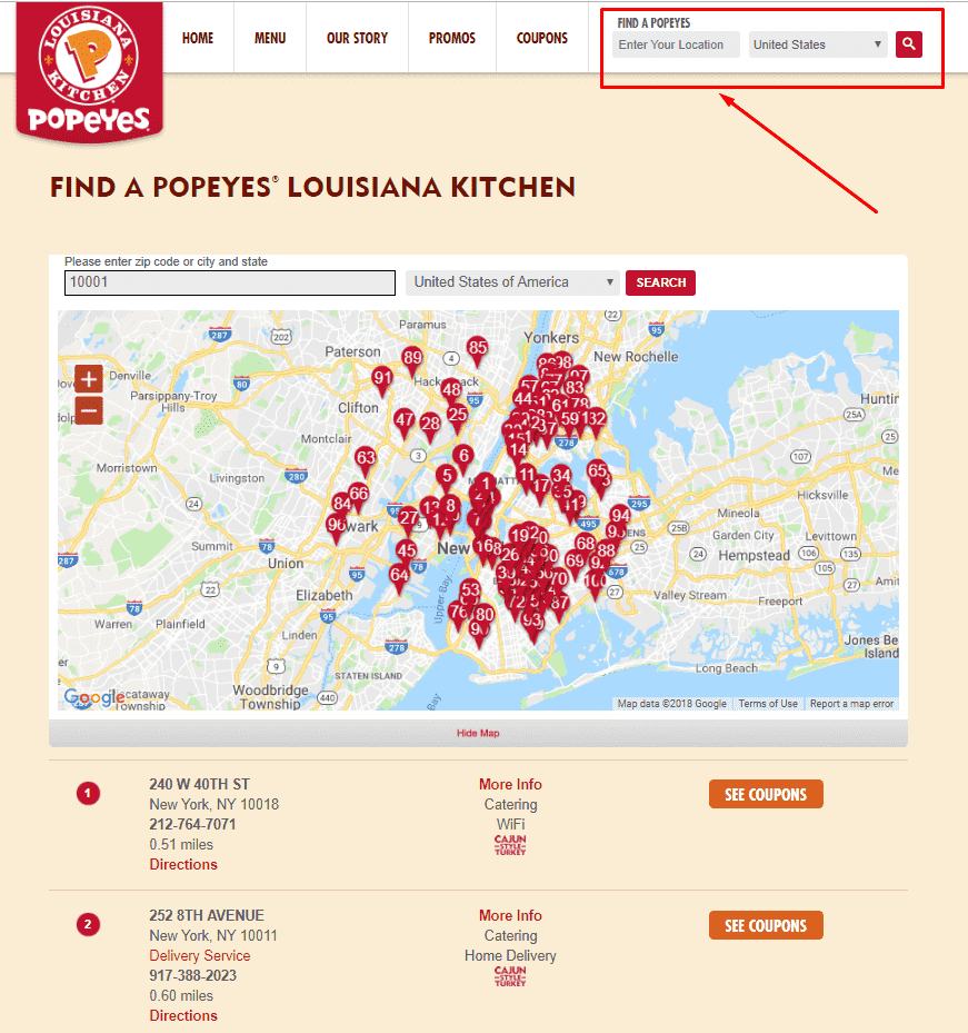Popeyes Locations