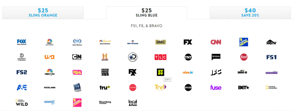Sling TV Blue Package