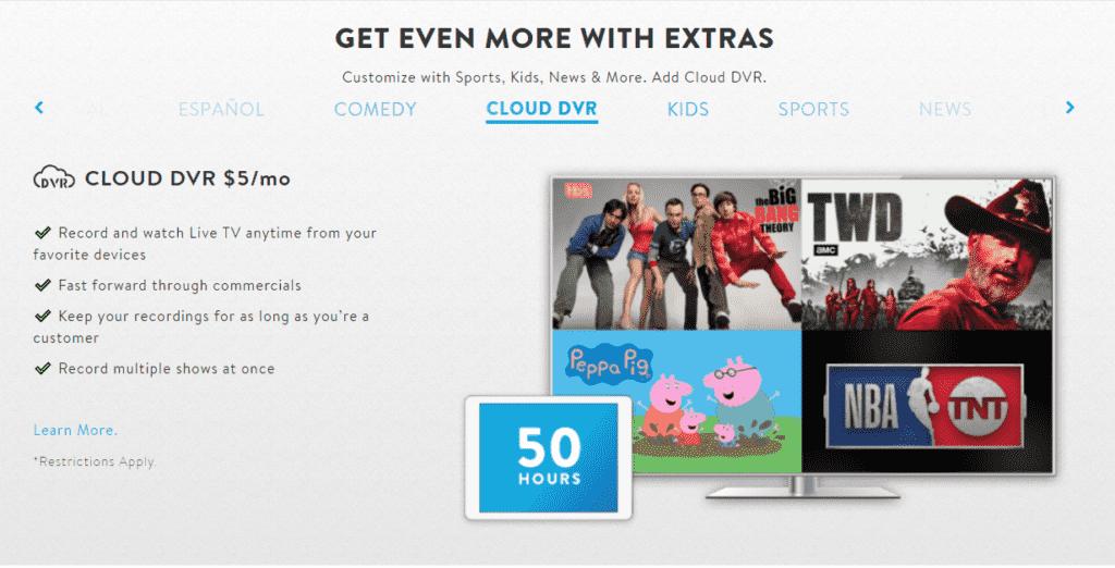 Sling Television Cloud DVR