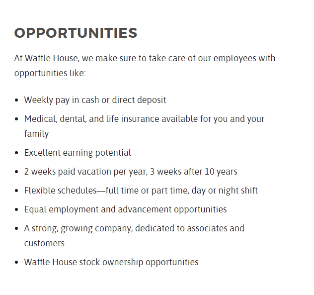 Waffle House Job Opportunities