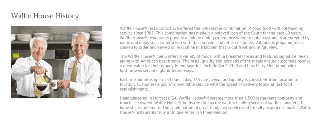 Waffle House history