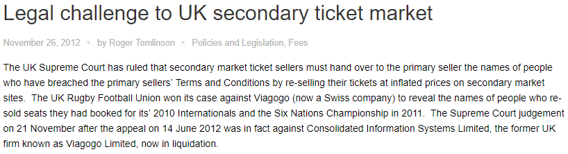 Viagogo ticket market