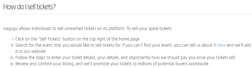 Resell tickets on Viagogo