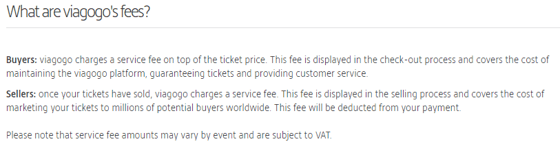 Viagogo booking fees