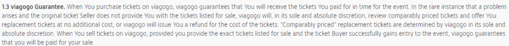 Viagogo refunds