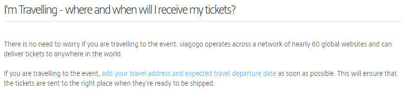 How Viagogo delivers tickets