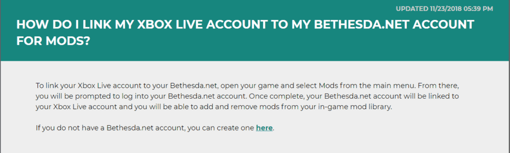 How to link my Bethesda account to my Xbox One