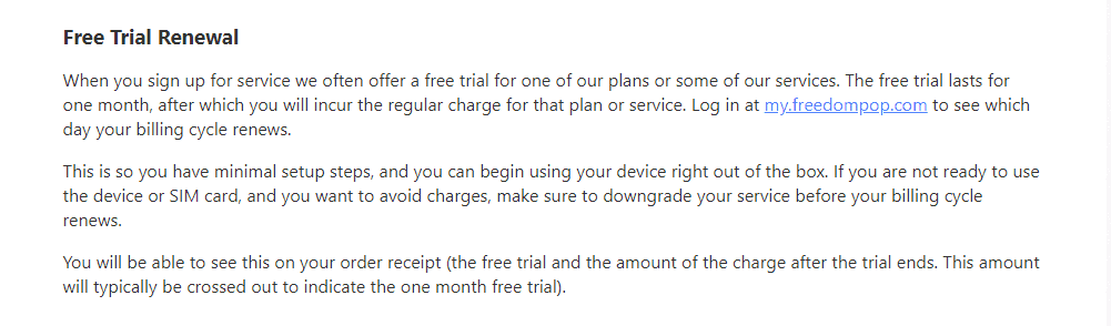 FreedomPop free trial