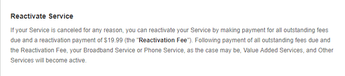 Freedompop Reactivation fee
