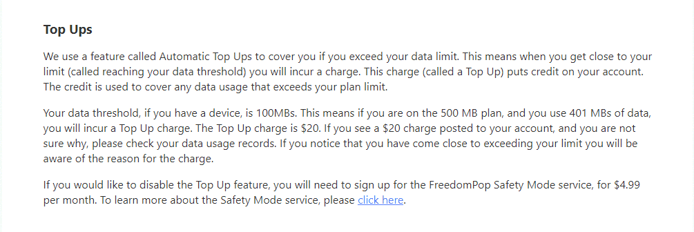 FreedomPop free plan