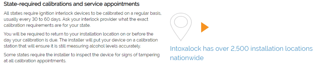 Intoxalock calibration appointment