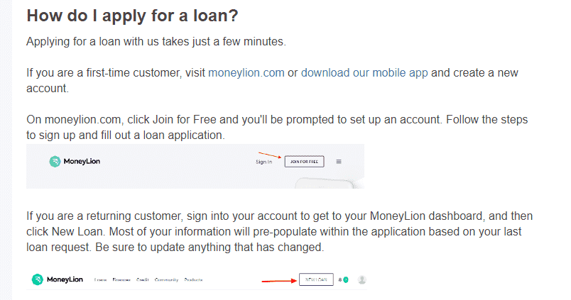 How to apply for Moneylion loan