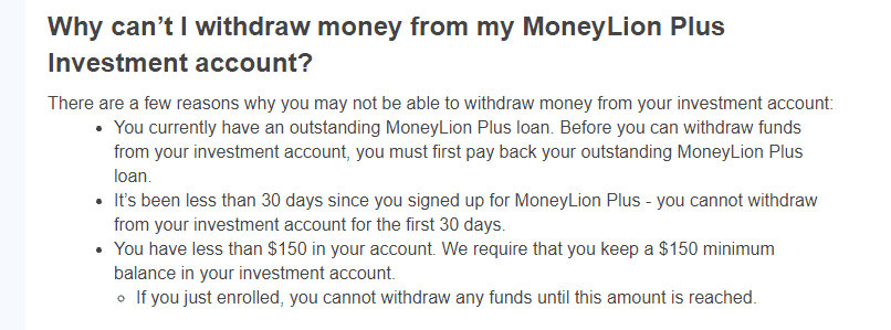 Moneylion Plus money withdrawal