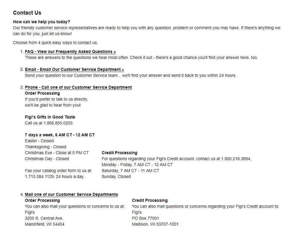 Figis contact info