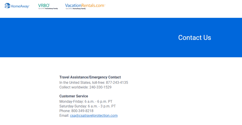 Csa Travel Protection contacts