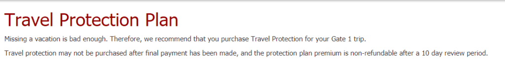 Gate1Trave travel insurance