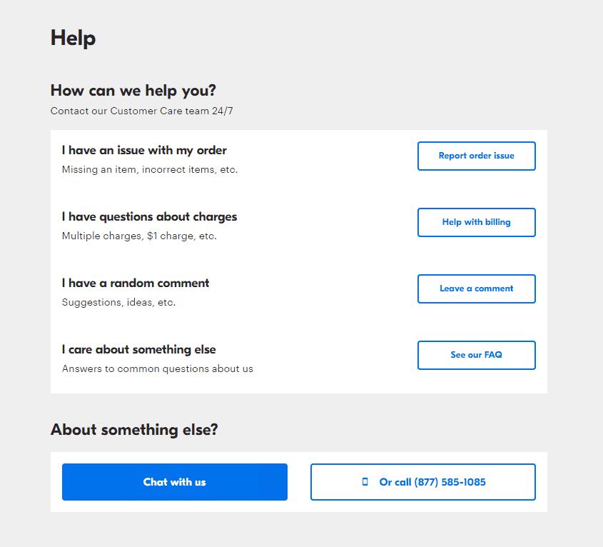 Grubhub contact information