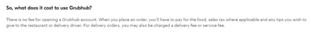 Grubhub delivery fee