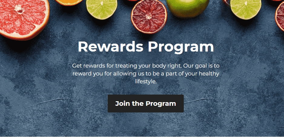 Jus by Julie rewards program