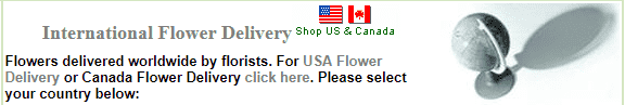 JustFlowers International flower delivery