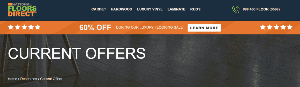 National Floors Direct current offers