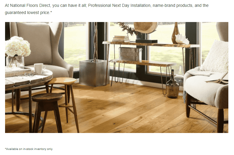 National Floors Direct guarantees