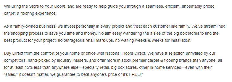 National Floors Direct return policy