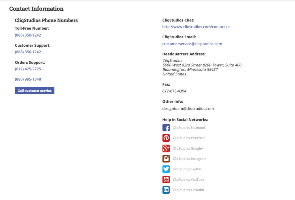 CliqStudios contact info