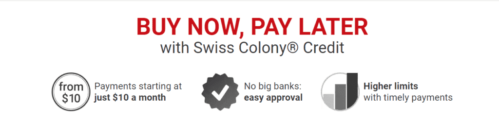 The Swiss Colony credit