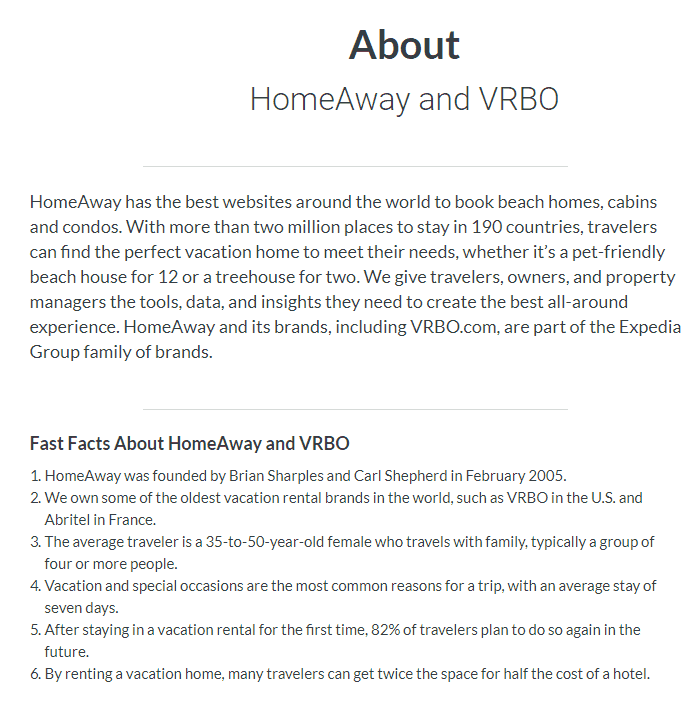 VRBO facts